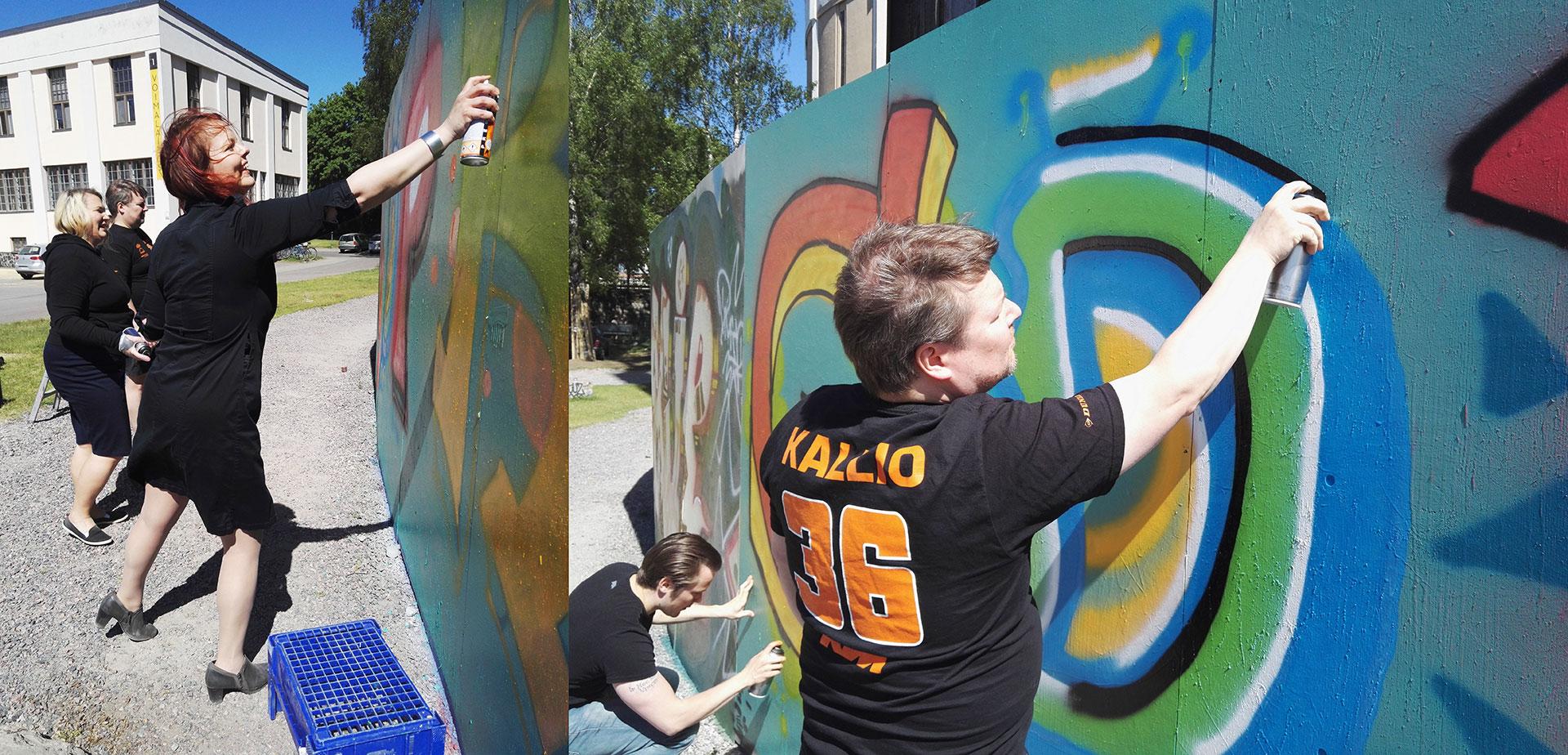 Insinööriliitto Ry:n graffitityöpaja