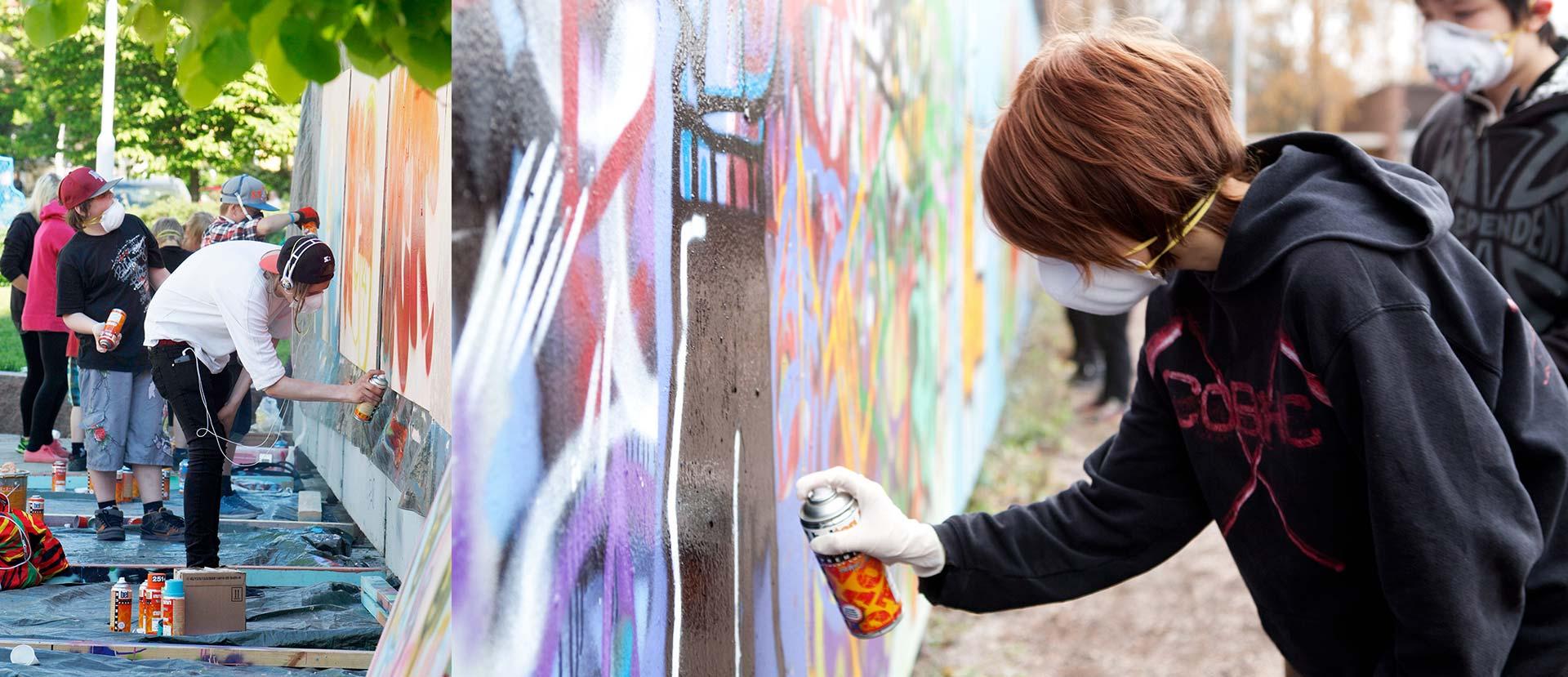 Nuorison graffitikurssi