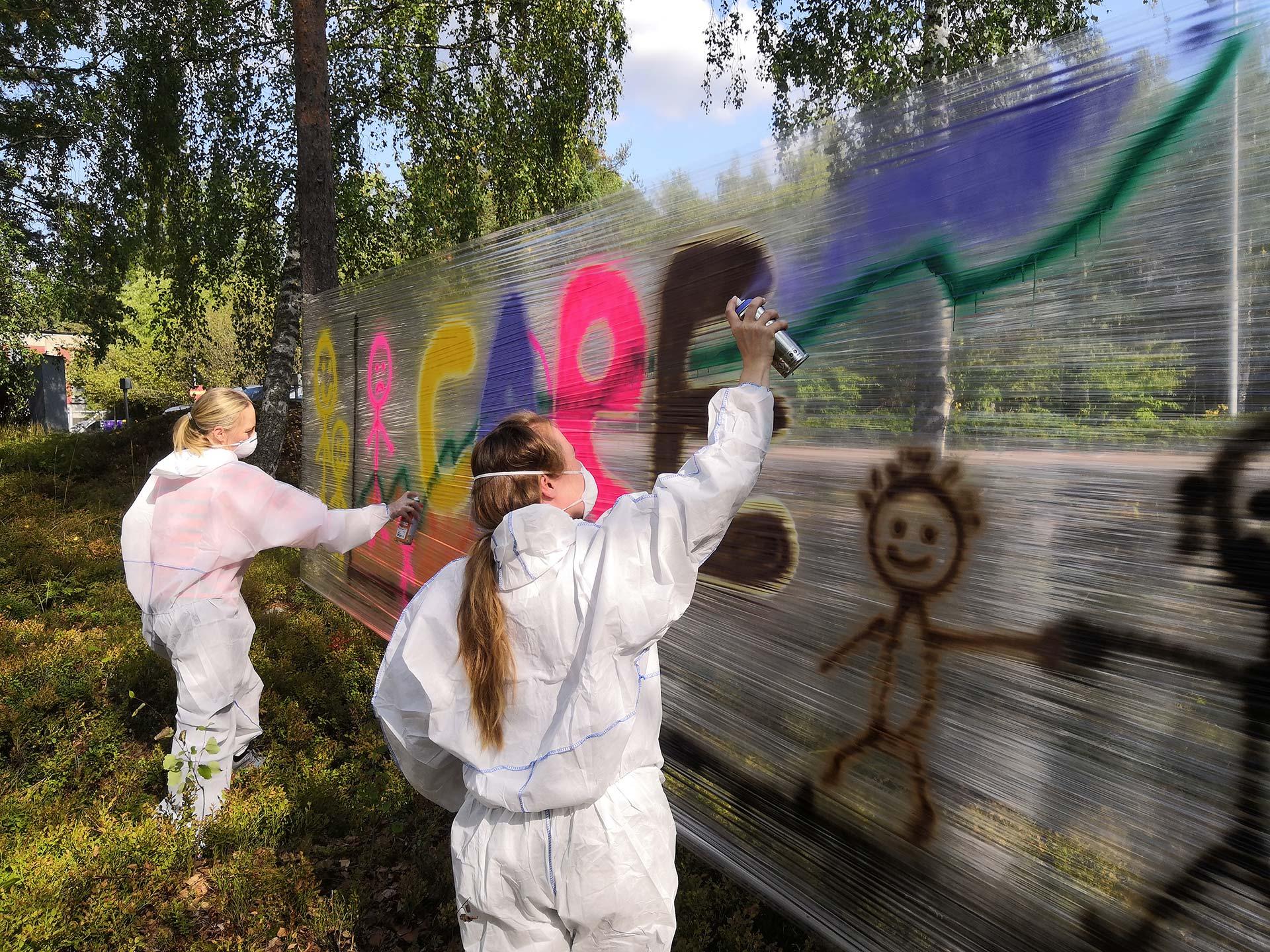 THL graffitityöpaja